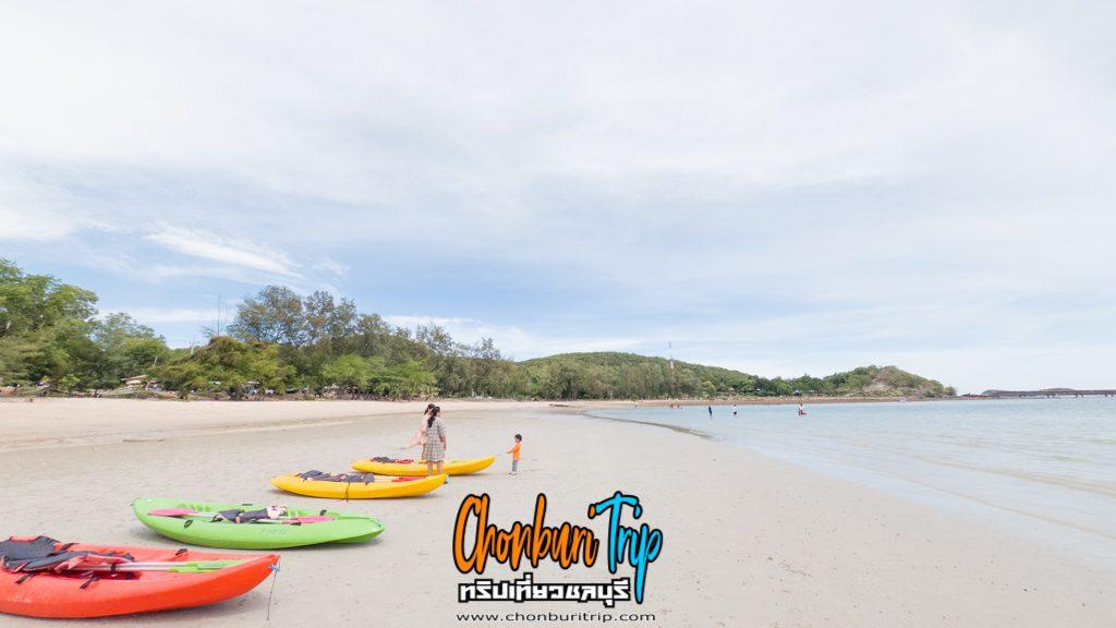 หาดสอ-เล่นน้ำ-พายเรือคายัค-ชมประการังที่สัตหีบ
